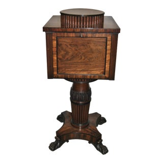 19th Century Mahogany English Regency Wine Cooler / Cellaret For Sale