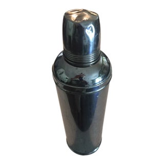 Vintage 1910s Chrome Thermos For Sale