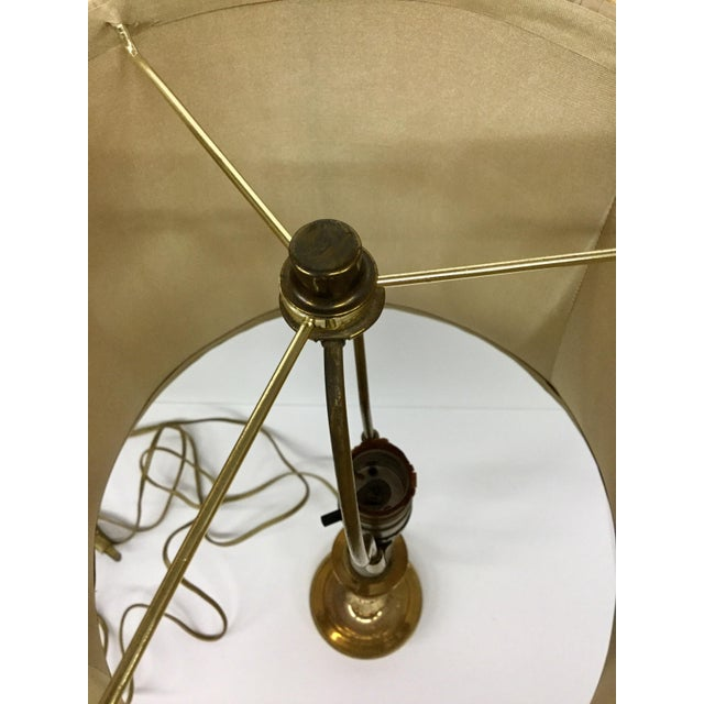 Traditional Vintage Baldwin Solid Brass Candlestick Table Lamp For Sale - Image 3 of 13