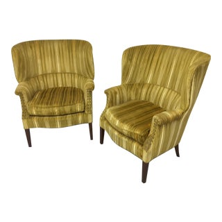 Retro Bergere Chairs - A Pair