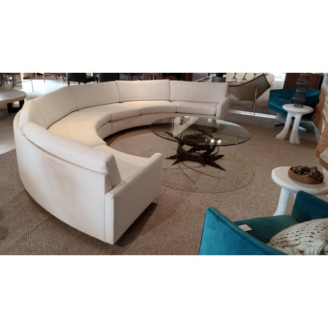Contemporary 1970s Milo Baughman for Thayer Coggin Circular Sofa Fully Restored For Sale - Image 3 of 13
