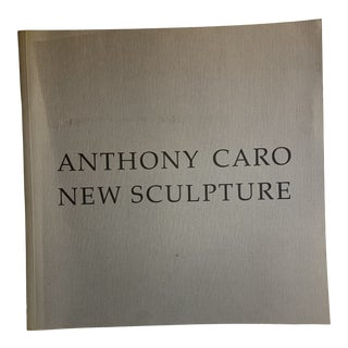 1989 Anthony Caro New Sculpture Book For Sale