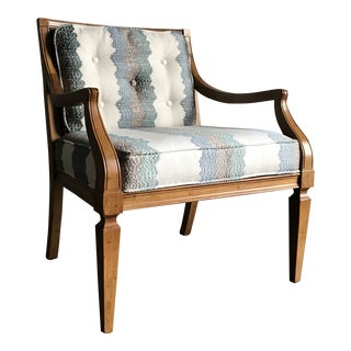 Late 20th Century Vintage Upholstered Occasional Lounge Chair For Sale