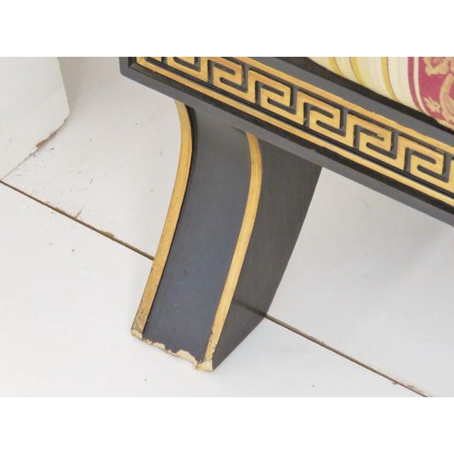 Regency-Style Ebonized & Gilt Fainting Sofa - Image 3 of 5