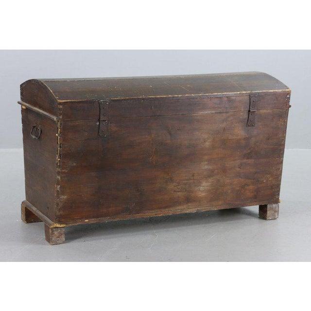 Primitive 19th Century Primitive Dome-Top Coffin Chest For Sale - Image 3 of 9