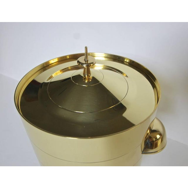 Metal 1950s Vintage Tommi Pazinger for Dorlyn Brass Ice/Champagne Bucket For Sale - Image 7 of 11