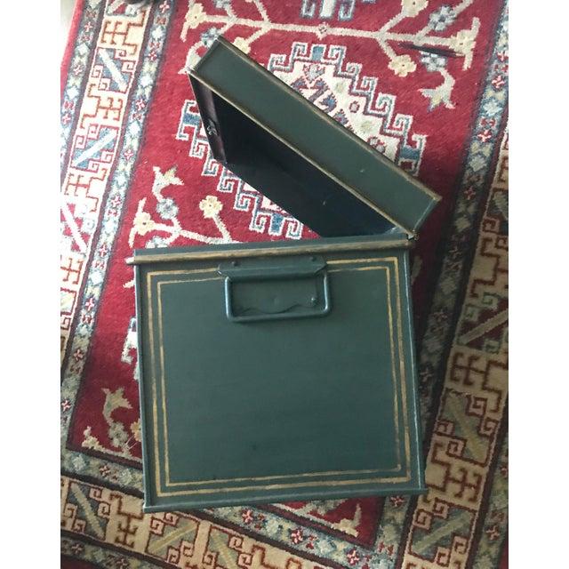 Large English Metal Strong Box - Image 11 of 11