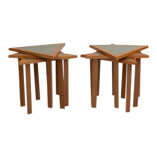 Mid-Century Triangular Stacking Tables - a Pair