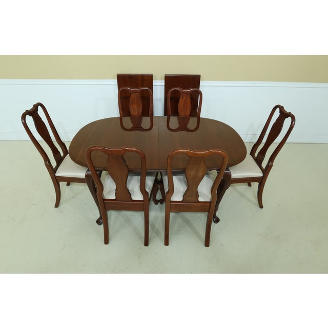 Item: 49872EC/73EC: KNOB CREEK By ETHAN ALLEN Cherry Dining Room Set Age: Approx: 20 Years Old Details: Solid Cherry High...
