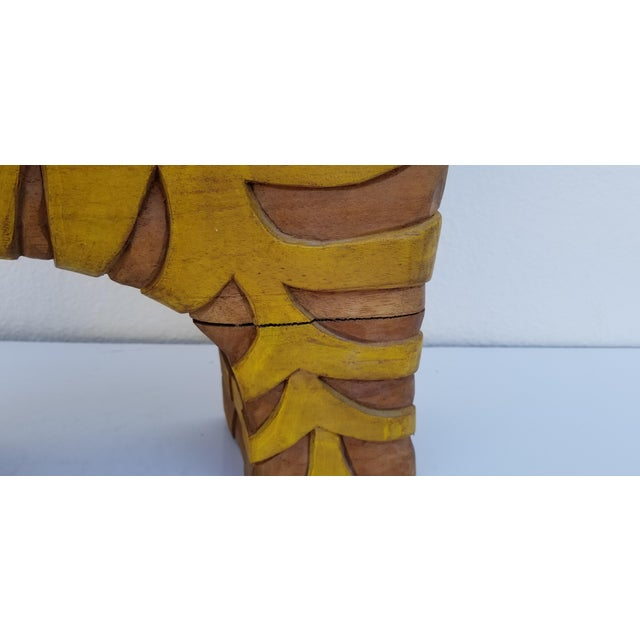 Guido Gambone Style Sun Lion Sculpture For Sale - Image 10 of 11