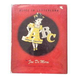 1946 Vintage Alice in Letterland Children's Book For Sale