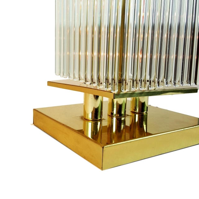 Sciolari-Style Glass Rod Table Lamps - A Pair - Image 7 of 10