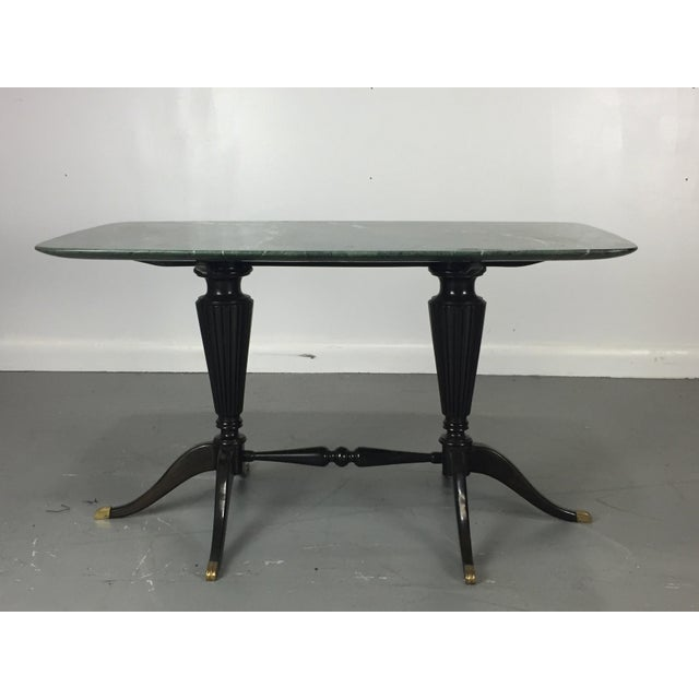 Mid-Century Modern Paolo Buffa for Fratelli Cassina Marble Top Low Table For Sale - Image 3 of 9