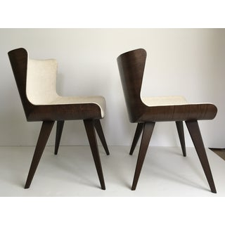 Mid-Century Style Wood Wrapped Accent Chairs- a Pair Preview