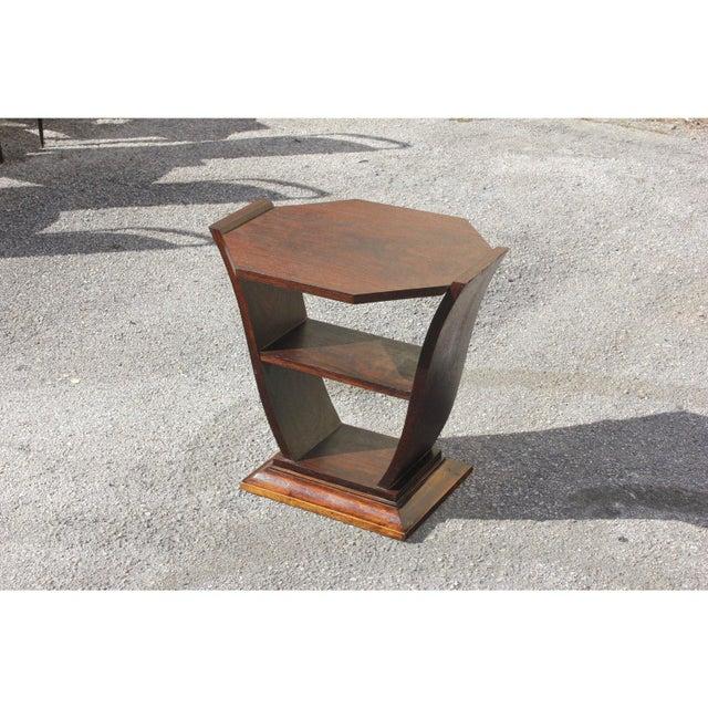 Art Deco 1940s Art Deco Macassar Ebony Tulip Coffee Table For Sale - Image 3 of 12
