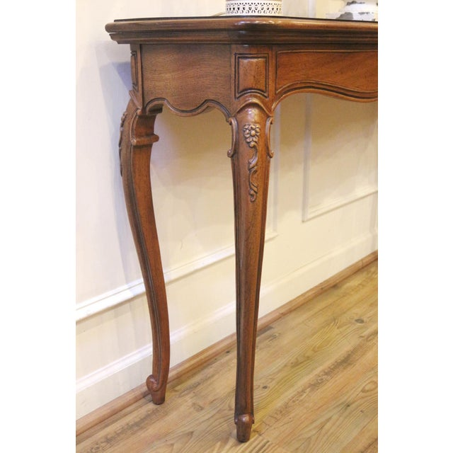 1970s Vintage Thomasville French Country Style Console Table For Sale In Raleigh - Image 6 of 13