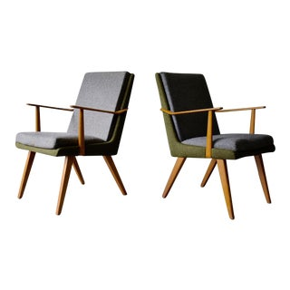 Pair of Mid Century Modern Armchairs For Sale