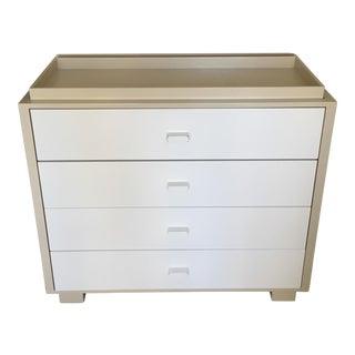 Mid-Century Modern Ducduc Austin White Woodn 4-Drawer Dresser