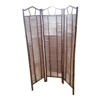 Vintage Bamboo Screen Room Divider For Sale