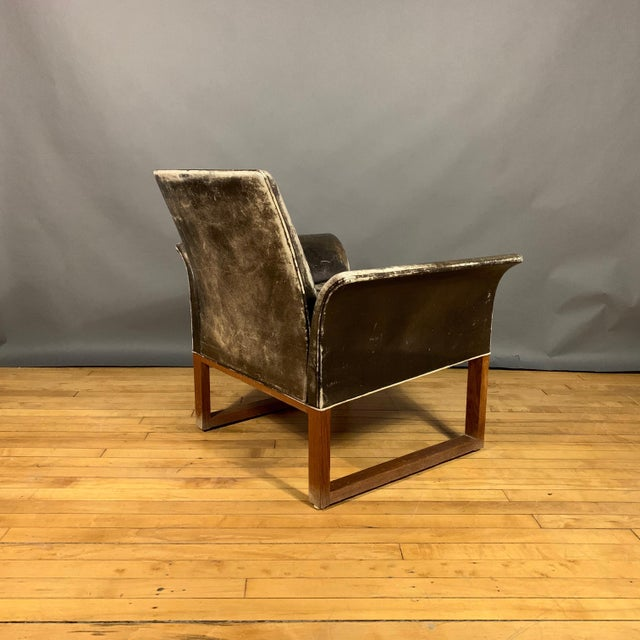 Pair of Danish 1960s Faded Black Leather Lounge Chairs For Sale - Image 11 of 13