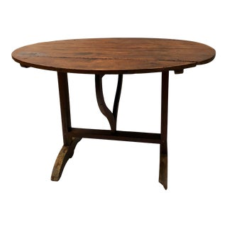 Early 1900s French Folding Wine Tasting Table For Sale