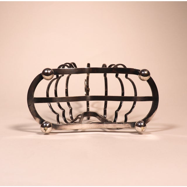 1950's English Silver Plated Toast Rack For Sale - Image 12 of 13