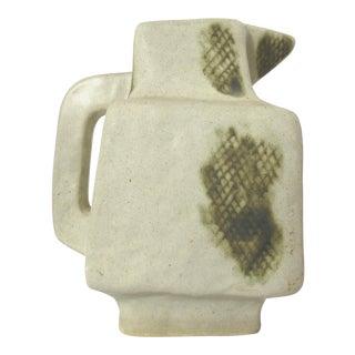 Cubist Style Ceramic Pitcher For Sale