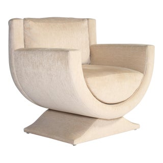 Richard Himmel Upholstered Club Chair For Sale