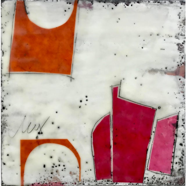 """""""Perceptions No. 12"""" Original Encaustic Collage Painting by Gina Cochran For Sale In Washington DC - Image 6 of 6"""