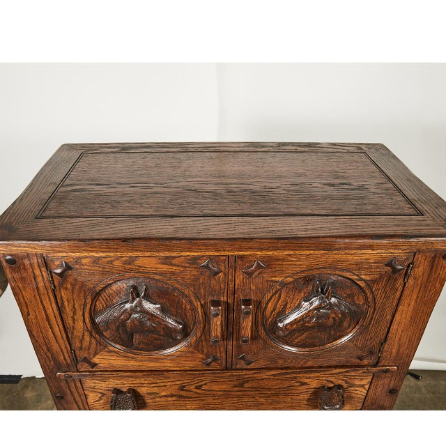 Horse Motif Cabinet For Sale In Los Angeles - Image 6 of 9