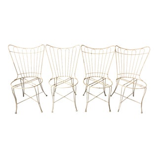 1960s Vintage Wire Chairs- Set of 4 For Sale