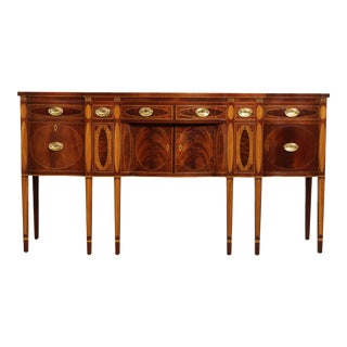 Kindel Winterthur Collection Mahogany Inlaid New York Sideboard (C) For Sale
