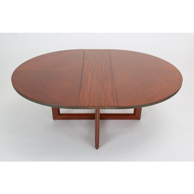 """Heritage-Henredon Frank Lloyd Wright """"Taliesin"""" Game Table With Four Chairs For Sale - Image 4 of 13"""