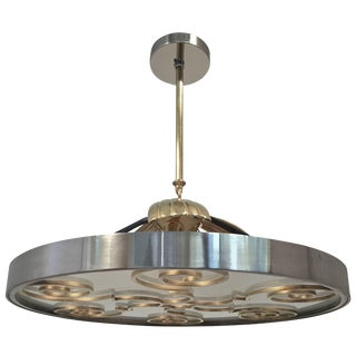 Chandelier by Lars Holmstrӧm for Arvika, 1930s For Sale