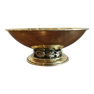 Vintage Swedish Brass Bowl For Sale