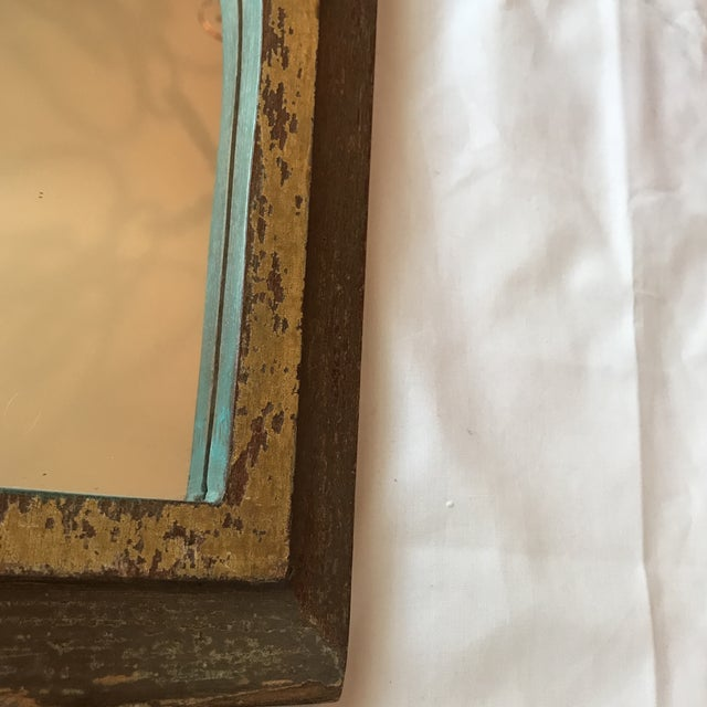 Vintage Indian Archway Painted Teak Mirror For Sale In Los Angeles - Image 6 of 11