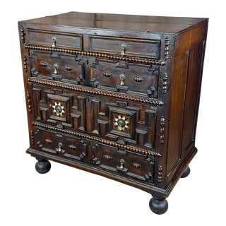 "17th Century William & Mary ""Fabulous"" Chest of Drawers-C.1680s For Sale"