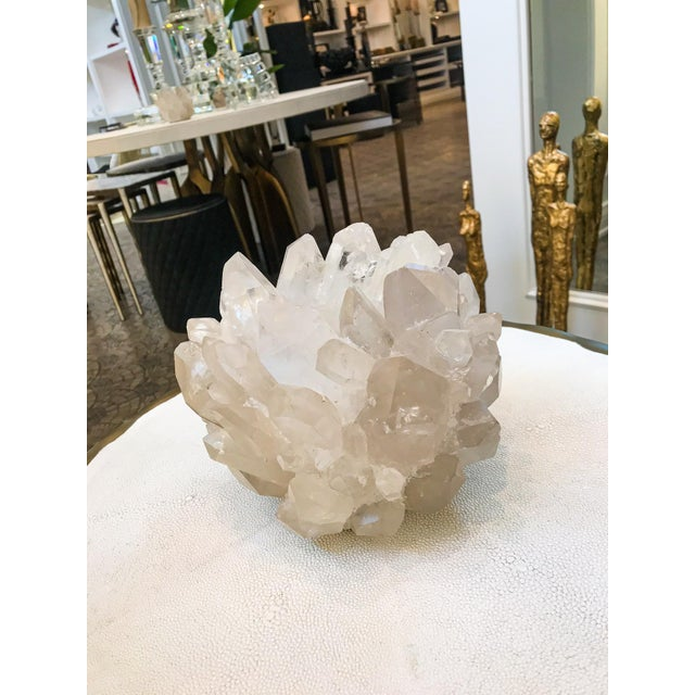 Contemporary Kathryn McCoy White Quartz Candle Holder For Sale - Image 3 of 5