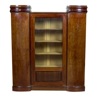 Art Deco Bookcase Veneered with Mahogany, circa 1920-1930 For Sale
