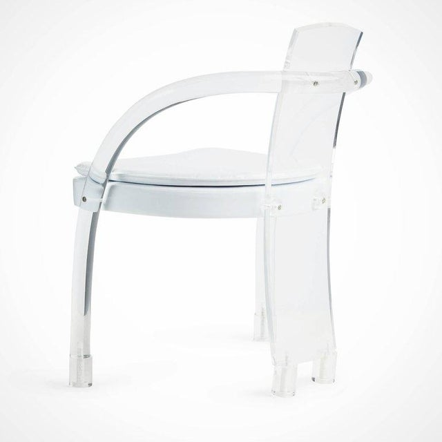 Hill Manufacturing Lucite Waterfall Armchairs - Set of 4 For Sale In Los Angeles - Image 6 of 11