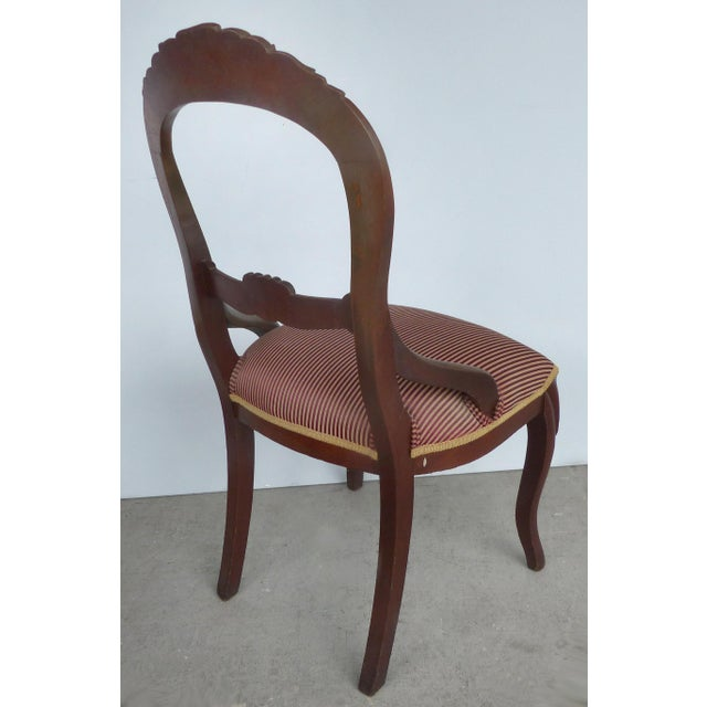 1940s Balloon Back Dining Chairs-A Pair For Sale - Image 5 of 12