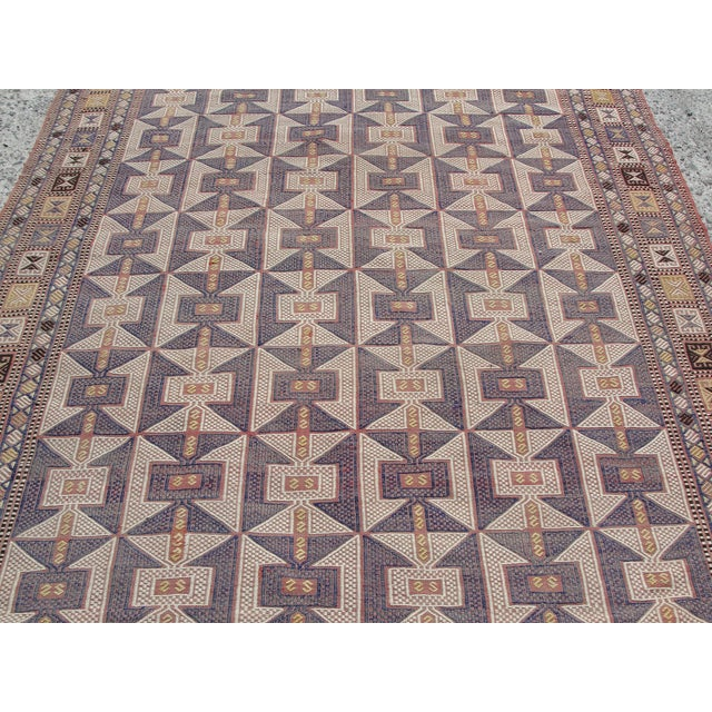 Vintage Turkish Kilim Rug - 6′5″ × 9′6″ - Image 6 of 11