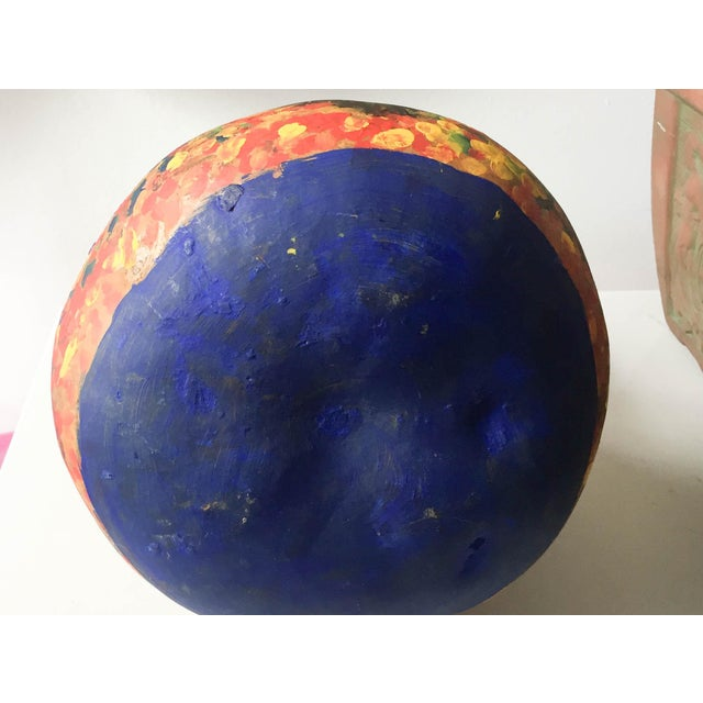 Mid Century Listed Artist Rodolfo Morales - Painted Gourd - Image 7 of 7