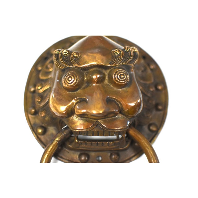 Late 20th Century Late 20th Century Vintage Warrior Door Knockers- a Pair For Sale - Image 5 of 13