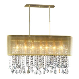 Contemporary Beaded Pipe Chandelier For Sale