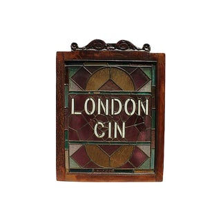 1920s English Pub Stained Glass For Sale