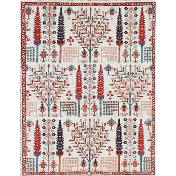 Wheatfield in Ivory Afghan Rug - 8′ × 10′ For Sale