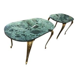 French Empire Bronze Lion End Tables - a Pair For Sale