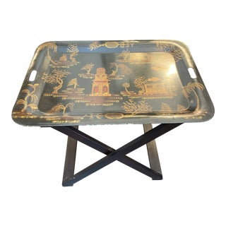 Bergdorf Goodman Chinoiserie Tole Tray For Sale