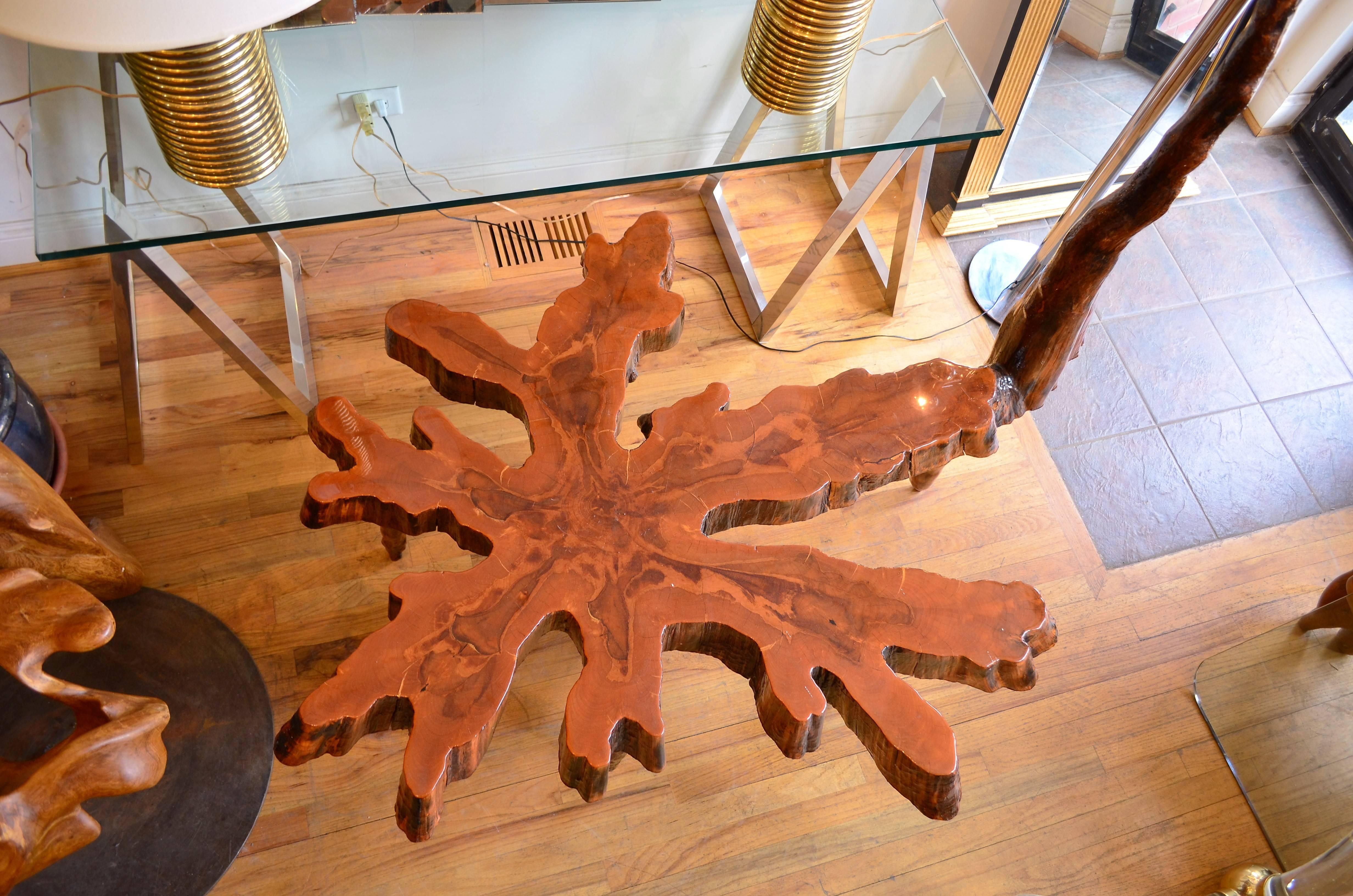 Cypress Sculptural Live Edge Coffee Table